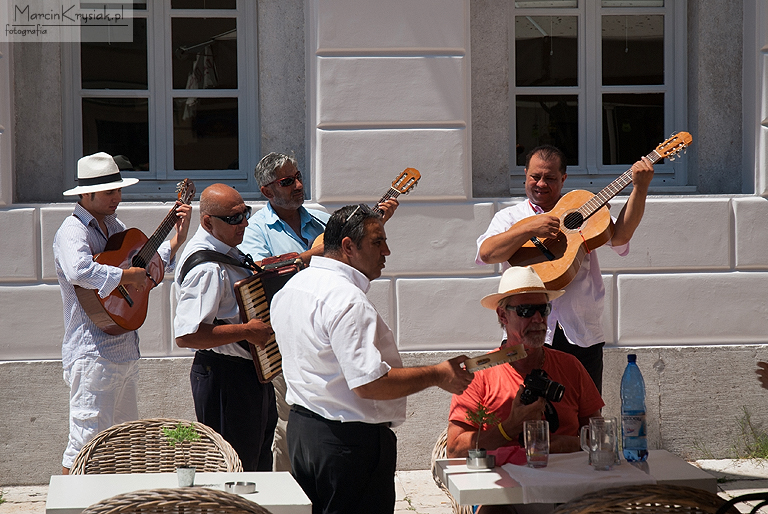 street, restaurant, band, Corfu, Greece