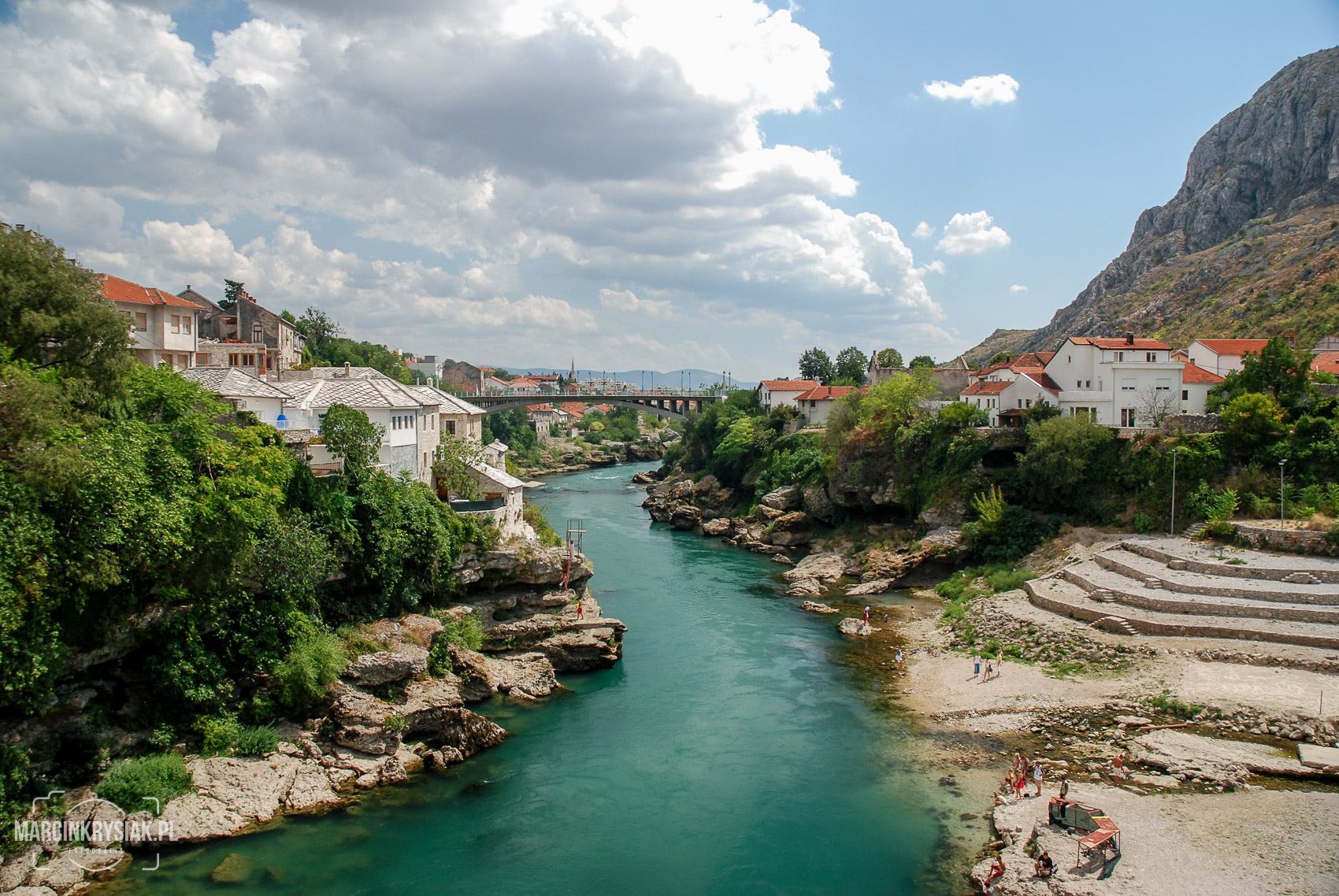 city,  river, water, old, mounitan, cloud, Mostar, Bosnia i Herzegovina